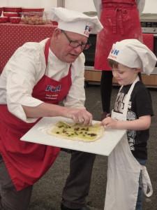 P1020510 Simon Gray from Fun Kitchen teaching fruity scone twists
